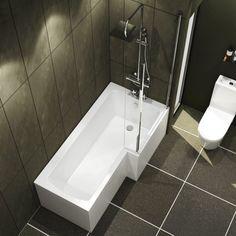 Bathtub Shower, Shower Enclosure, Glass Shower, Bath Tub, Royal Bathroom, Modern Bathroom, Small Bathrooms, L Shaped Bathroom, Square Bathtub