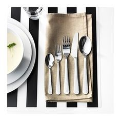 DRAGON 20-piece flatware set - IKEA - includes: teaspoon, saladfork, fork, knife, tablespoon - 4 of each $ 12.99