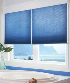 These shades are the honeycomb cellular style with blackout by Graber. Perfection in these windows!