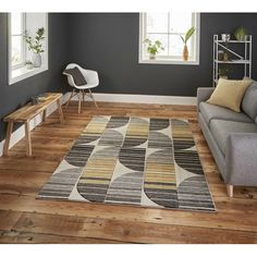 You'll love the Pembroke Grey/Yellow Rug at Wayfair.co.uk - Great Deals on all Home Décor products with Free Shipping on most stuff, even the big stuff.