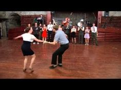 east coast swing, fun with spins for the guys, continuous she goes, he goes - YouTube
