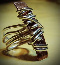 sterling silver and copper ring by ISAJUL