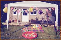 Bunting and toys