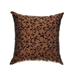 Softline Home Fashions Sava Pillow in Copper Black - - Pillows - Bed & Bath Floor Pillows, Bed Pillows, Rv Living, Pillow Talk, Slipcovers, Decorative Throw Pillows, Sweet Home, Copper, Cool Stuff