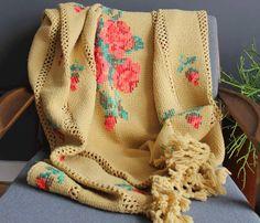 Rose Afghan Blanket