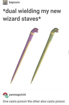 Cold weapon - bapouro *dual wielding my new wizard staves* yanmagotchi One casts poison the other also casts poison Dankest Memes, Funny Memes, Jokes, Bad Memes, Funniest Memes, Haha Funny, Funny Stuff, Random Stuff, Dnd Funny