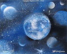 Blue star planets cosmos Flash Art, Buy Prints, Oeuvre D'art, Les Oeuvres, Cosmos, Planets, Give It To Me, Creations, Stars