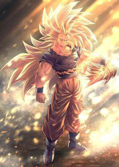 Goku By: mattari_illust Dragon Ball Gt, Dragon Ball Image, Wallpaper Do Goku, Dragon Ball Z Iphone Wallpaper, Dragonball Wallpaper, Wallpaper Art, Foto Do Goku, Ssj3, Fanarts Anime