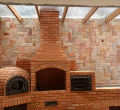 Outdoor Bbq Kitchen, Outdoor Barbeque, Outdoor Oven, Backyard Kitchen, Brick Bbq, Four A Pizza, Rustic Chandelier, Barbacoa, Construction