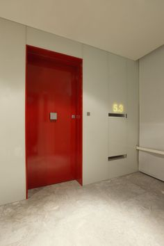 Contemporary Apartment Doorway   A Splash Of Red Creates Impact