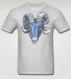 Blue Ram TShirt North Carolina Tar Heels Rhode by SportswearTees