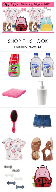 """Mariana & Matilde -  07.06.2017"" by saalopes ❤ liked on Polyvore featuring Colgate, Softsoap, The Wet Brush, Carter's, OshKosh B'gosh and Skip Hop"