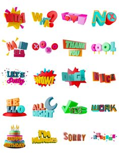 Wow Sticker pack on Behance