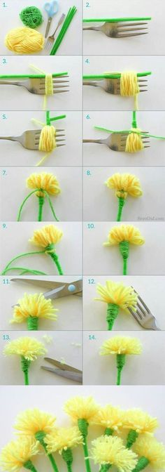 Manufacture of flowers in paper
