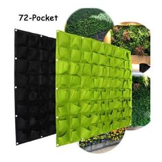 MS Super More 72 Pocket Vertical Hanging Flower Vege Herbs Plant Grow Bags Wall Planter Decor TO323