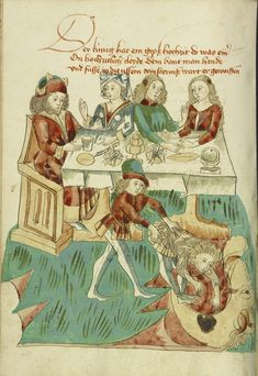 Medieval illustrations show the ideals of chivalry playing out in real life on the pages of manuals of hunting etiquette, rolls of legal and financial disputes, and strategy guides for popular games like chess.