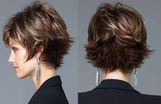 Moda anti-idade - corte de cabelo curto repicado - 50+ 60+ - short haircut