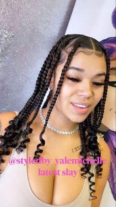 Big Box Braids Hairstyles, Hair Ponytail Styles, Braids Hairstyles Pictures, Black Girl Braided Hairstyles, African Braids Hairstyles, Baddie Hairstyles, Curly Hair Styles, Natural Hair Styles, Black Women Hairstyles