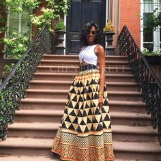 The African Print Skirt  TheOni Skirt by CHENBURKETTNY on Etsy