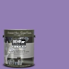 BEHR Premium Plus Ultra 1-gal. #PPU16-4 Purple Agate Semi-Gloss Enamel Interior Paint-375401 at The Home Depot