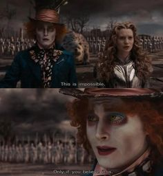 Alice and The Mad Hatter in Alice in Wonderland (2010)