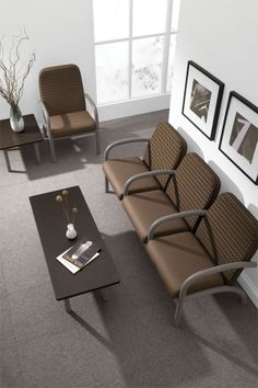 Aubra hospital waiting room furniture delivers comfort and durability in the most demanding healthcare furniture environments. #medicalwaitingroomfurniture