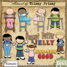 Time To Eat 1 - Whimsy Primsy Clip Art Download