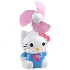 Mini Desk Fan with Hello Kitty Shaped Assorted Color 54398-in Fans ...