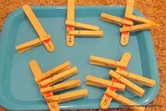 School Time Snippets: Clip Sticks Counting Activity for Toddlers