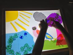 Creating Nature Scenes on the light table