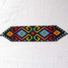 Manilla vientres fecundados Loom Bracelet Patterns, Peyote Patterns, Loom Bracelets, Loom Patterns, Beading Patterns, Stitch Patterns, Beaded Braclets, Beaded Jewelry, Beaded Belts