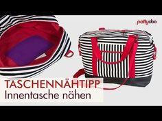 DIY Beuteltasche zum Wenden nähen - Taschen Schnittmuster kostenlos - YouTube