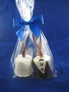 We start with the fluffiest jumbo Marshmallows we can find and then the crazy begins. We add milk, dark, white or peanut butter chocolate and dress them up for holidays or just for fun. If you can thi