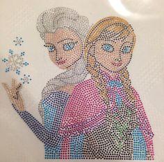 Anna and Elsa Elsa and Anna Frozen rhinestone by ABlingOfBeauty, $12.49