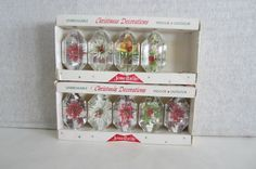 2 Boxes of 9 Lantern Shape Jewelbrite Ornaments by QuenbyMountain