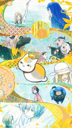 I found some awesome Natsume Yuujinchou official art that I'd never seen before, so I thought I'd make iPhone backgrounds! Amaama To Inazuma, Manga Anime, Anime Art, Natsume Takashi, Hotarubi No Mori, Anime Suggestions, Otaku, Kawaii Illustration, Natsume Yuujinchou