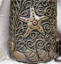 Декор предметов Аппликация из скрученных жгутиков Имитация дерева Пейп-арт Бутылки стеклянные Салфетки фото 9
