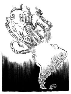 IMMIGRATION TENTACLES | Jul/15/14 Cartoon by Ed Hall -
