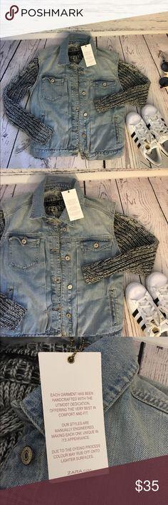 NWT Zara denim vest New with tags size medium. Firm unless bundled Zara Jackets & Coats Jean Jackets