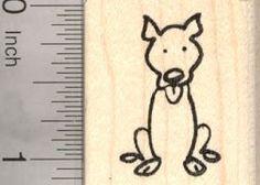 Amazon.com: Pitbull Dog Stick Figure Rubber Stamp: Arts, Crafts ...