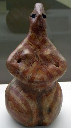 Mother Goddess Terracotta statuette figure - circa 6000-5000  BC Neolitic Age, found Hacilar Höyük in Burdur, Western Anatolia - at the Florence archaeological Museum