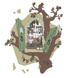 The Window - Print available to buy - http://www.etsy.com/uk/shop/TeaForMeDesigns  -Copyright Kirsty Willette Illustration