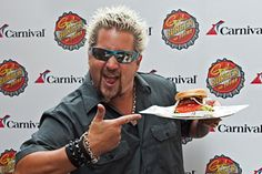 """Food Network Icon Guy Fieri teams up with Carnival offering """"Guy's Burger Joint"""" onboard! Food Network Star, Food Network Recipes, Network Icon, Chef Guy Fieri, Carnival Liberty, Cruise Planners, Hot Dog Stand, Tv Chefs, Cruise Tips"""