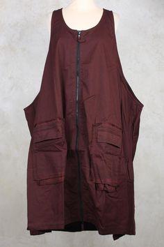 Oversized Dress with Large Pockets in Lava - Rundholz Black Label