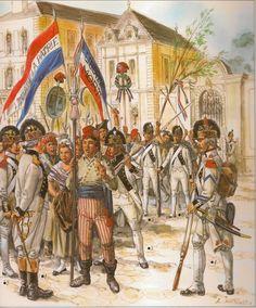 MINIATURAS MILITARES POR ALFONS CÀNOVAS: LOS SOLDADOS ( I ) DE LA REVOLUCIÓN FRANCESA , 1792. por LILIANE Y FRED FUNCKEN. fuente = Biblioteca Militar de BARCELONA.