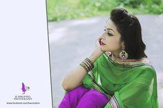 punjabi suit, green peach,purple,punjabi girl mutiyar