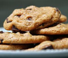 vegan malted chocolate chip cookies