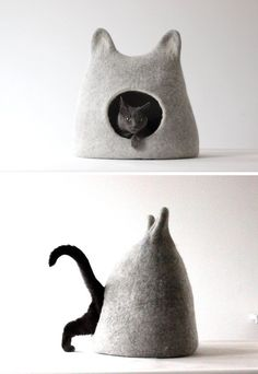Felted cat caves | cat caves | cat toys | modern cat furniture - What more to say other than we just LOVE cool stuff!