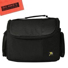 Deluxe Soft Medium Camera Case for Nikon DL 24500 DL 1850 DL 2485 DF D90 D500 D3000 D3100 D3200 D3300 D3400 D5000 D5100 D5200 D5300 D5500 D7000 D7100 D7200 D300 D300s D600 D610 D700 D750 D800 D810 D810A Digital SLR Cameras *** Read more reviews of the product by visiting the link on the image.