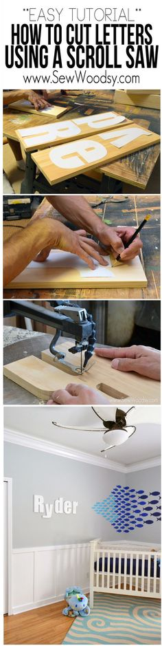 Easy Tutorial on How to Cut Letters Using a Scroll Saw #3MDIY #3MPartner @3mdiy